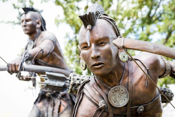 Chickasaw Cultural Center - Two Hunter Statue