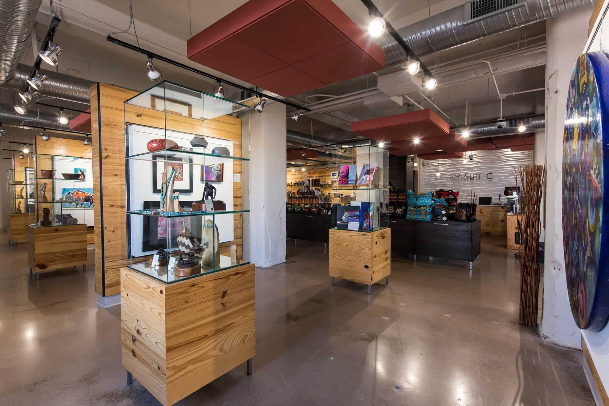 Exhbit C gallery interior in Oklahoma City