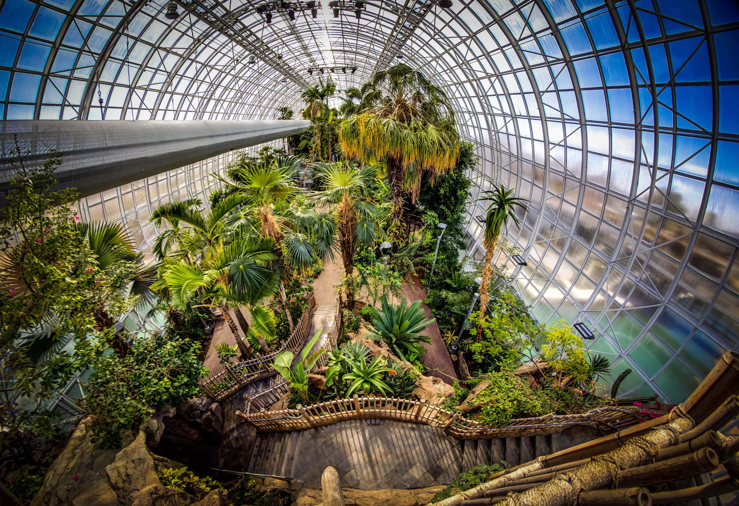 Interior of Myriad Gardens in Oklahoma City