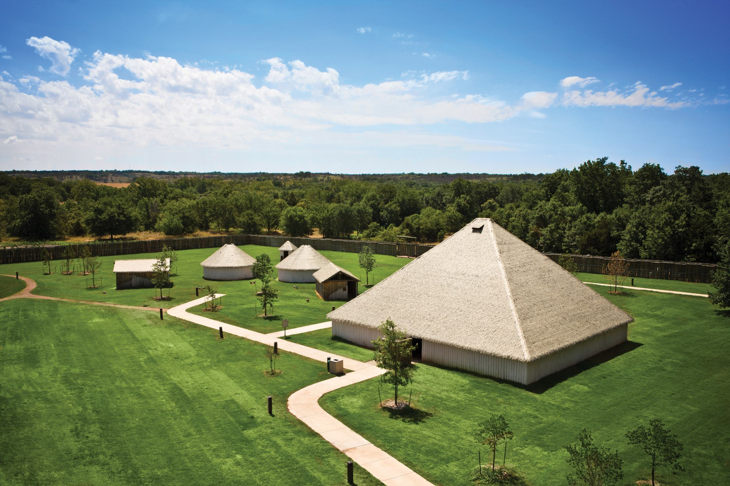 Aerial view of Chickasaw Cultural Center in Oklahoma