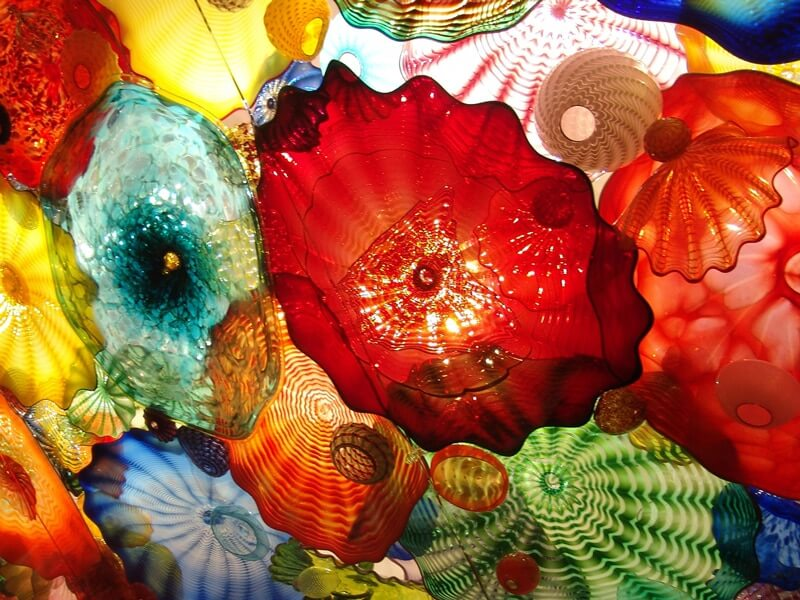 Glass sculpture at Oklahoma Museum of Art